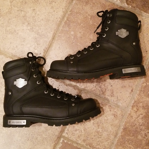 8152e4058718 NWT in box Harley Davidson steel toe lace up boots